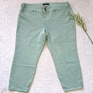 TORRID High Waisted Mint Wash Jegging Jeans Sz 26